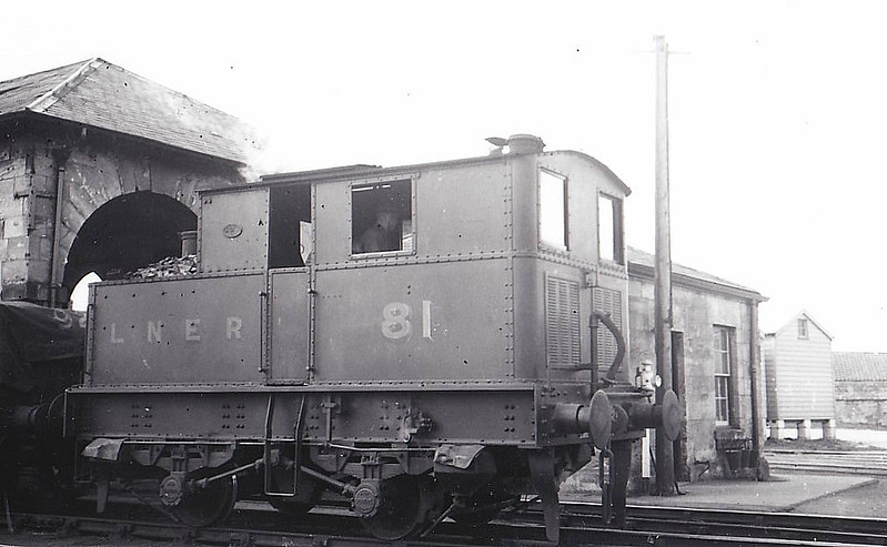 Class Y3 - 81 - Sentinel LNER 0-4-0T - built 12/27 by Sentinel Wagon Co. - 11/46 to LNER No.8154 - BR No.68154 not applied - 10/53 withdrawn from 52A Gateshead - seen here at Pickering in 1939.
