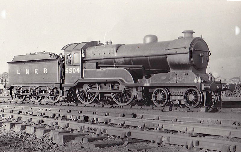Class D11 - 5504 JUTLAND - Robinson GCR Class 11F LNER Class D11 Improved Director 4-4-0 - built 11/22 by Gorton Works as GCR No.504 - 12/24 to LNER No.5504, 10/46 to LNER No.2668, 05/48 to BR No.62668 - 11/60 withdrawn from 41A Sheffield Darnall.