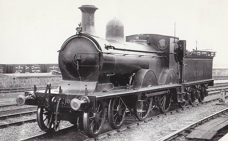 Class D42 - 6804 - Mamson GNSR Class O 4-4-0 - built 1888 by Kitson & Co. as GNSR No.4 - 1923 to LNER No.6804 - 04/35 withdrawn from Kittybrewster MPD.