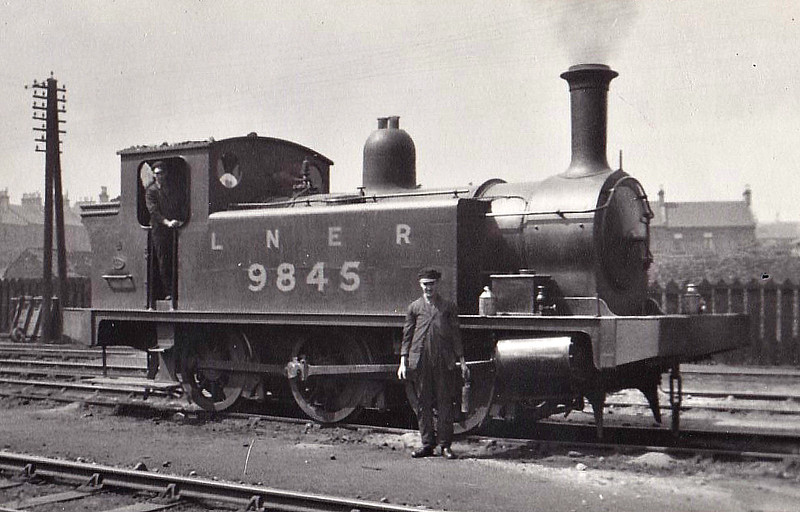 Class J88 - 9845 - Reid NBR Class F 0-6-0T - built 10/05 by Cowlairs Works as NBR No.845 - 12/24 to LNER No.9845, 07/46 to LNER No.8329, 05/49 to BR No.68329 - 02/59 withdrawn from 65E Kipps.