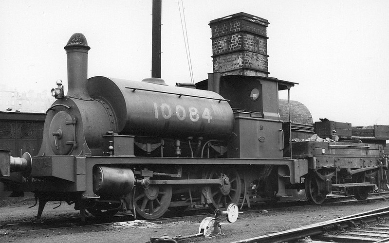 Class Y9 - 10084 - Drummond NBR Class G 0-4-0ST - built 1899 by Cowlairs Works as NBR No.342 - to NBR Duplicate List as No.1084, 06/27 to LNER No.10084, 09/46 to LNER No.8110, 06/48 to BR No.68110 - 05/60 withdrawn from 65E Kipps.
