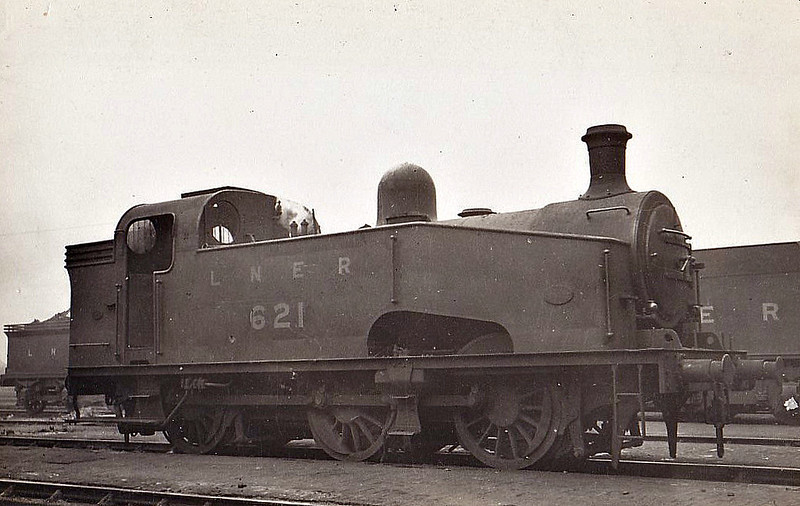 Class J50 - 621 - Gresley GNR/LNER Class J23 0-6-0T - built 09/26 by Doncaster Works - 05/46 to LNER No.8955, 06/48 to BR No.68955 - 12/59 withdrawn from 65A Eastfield.