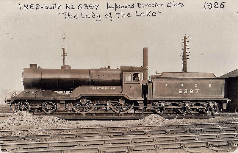 Class D11 - 6397 THE LADY OF THE LAKE - Robinson GCR/LNER Class 11F 4-4-0 - built 11/24 by Armstrong Whitworth & Co. - 08/46 to LNER No.2690, 07/48 to BR No.62690 - 07/61 withdrawn from 64B Haymarket.