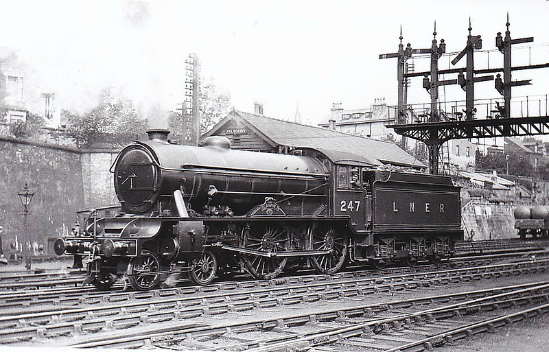 CLASS D49 - 247 THE BLANKNEY -  Gresley LNER 4-4-0 - built 07/32 by Darlington Works - 09/46 to LNER No.2741, 08/49 to BR No.62741 - 10/58 withdrawn from 53B Hull Botanic Gardens - seen here at Falsgrave, Scarborough, in 1937.