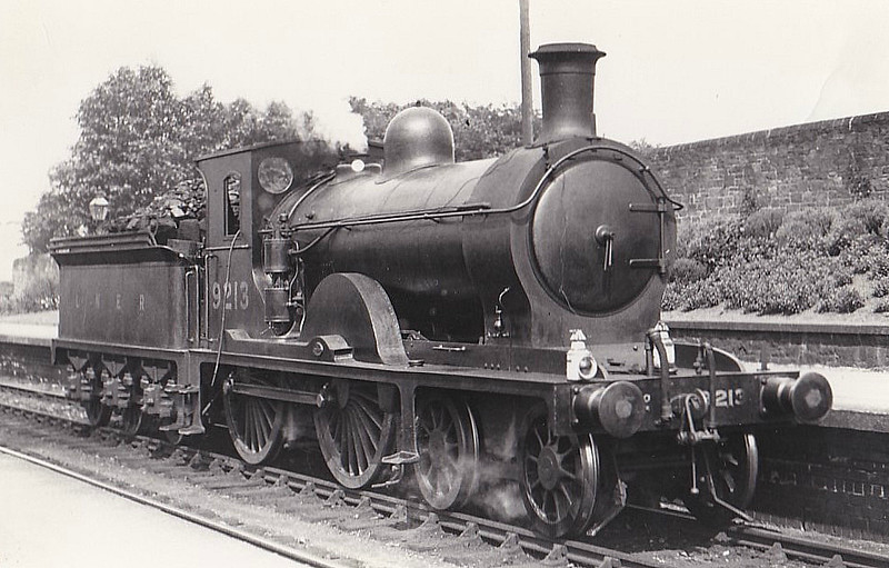 Class D31 - 9213 -  Holmes NBR Class M 4-4-0 - built 06/1895 by Cowlairs Works as NBR No.213 - 01/25 to LNER No.9213 - 03/39 withdrawn from Carlisle Canal MPD.