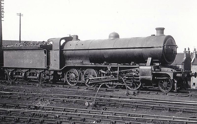 Class O3 - 3456 - Gresley GNR/LNER 2-8-0 - built 12/13 by Doncaster Works as GNR No.456 - 12/24 to LNER No.3456, 12/46 to LNER No.3475, 11/49 to BR No.63475 - 07/51 withdrawn from Retford GC - reclassified from Class O1 to O3 in 1944.