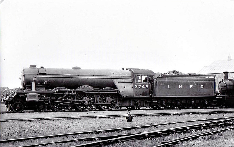 Class A3 - 2748 COLORADO -  Gresley 4-6-2 - built 12/28 by Doncaster Works - 12/46 to LNER No.94, 12/48 to BR No.60094 - 02/64 withdrawn from 65B St Rollox - seen here at Doncaster, 07/35.