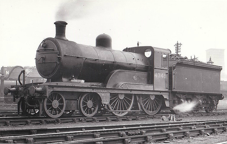 Class D 3 - 4349 - Ivatt GNR Class D3 4-4-0 - built 12/1898 by Doncaster Works as GNR No.1349 - 08/25 to LNER No.4349. 10/46 to LNER No.2141 - 11/46 withdrawn from Immingham MPD.