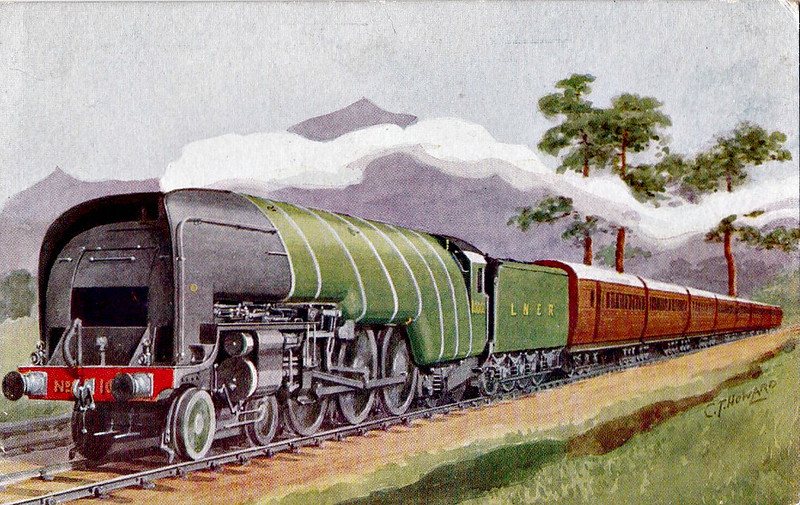 Class W1 - 10000 - Gresley 4-6-4 - built 12/29 by Doncaster Works with high pressure water tube marine boiler - 11/37 rebuilt as A4-style 4-6-4 - 06/48 to BR No.60700 - 06/59 withdrawn from 36A Doncaster.