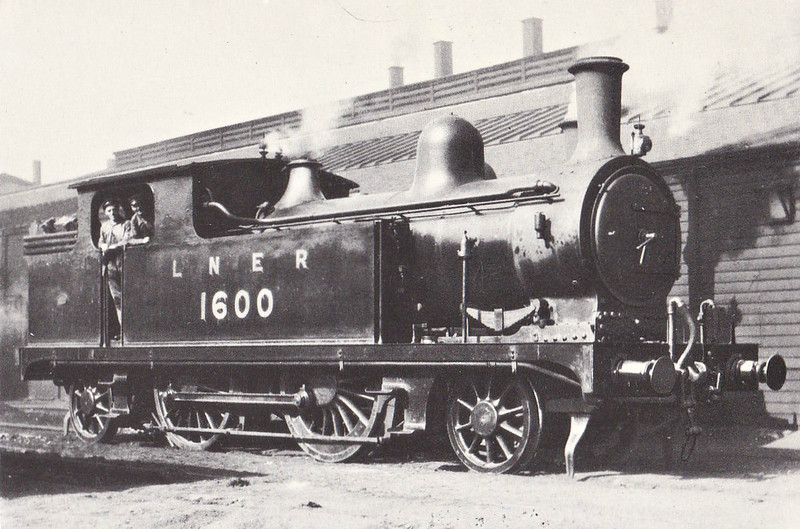 Class F8 - 1600 - Worsdell NER Class A 2-4-2T - built 1892 by Gateshead Works - 08/37 withdrawn from Tyne Dock MPD