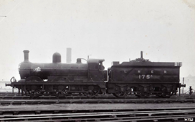 Class J 4 - 175A - Ivatt GNR Class J4 0-6-0 - built 12/1890 by Doncaster Works as GNR No.175 - 05/15 to GNR Duplicate List as No.175A - LNER No.3175 not applied - 04/26 withdrawn.