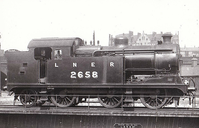 Class N 7 - 2658 - Hill GER/LNER Class L77 0-6-2T - built 09/27 by Beardmore & Co. - 09/46 to LNER No.9698, 05/48 to BR No.69698 - 09/61 withdrawn from 30A Stratford.
