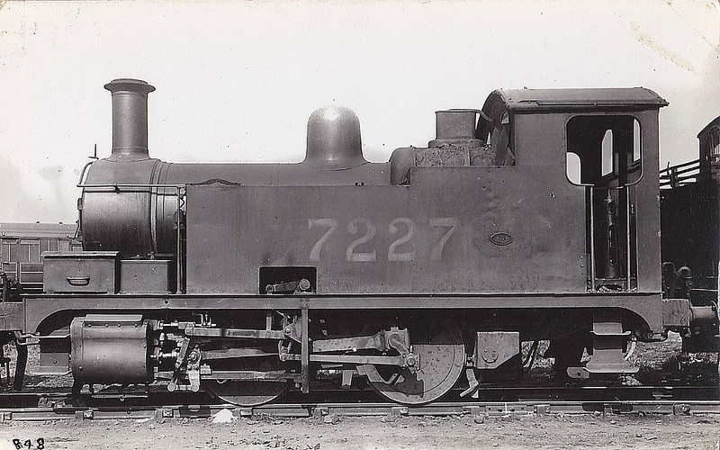 Class Y4 - 7227 - Hill GER Class B74 0-4-0T - built 07/13 by Stratford Works as GER No.227 - 02/25 to LNER No.7227, 06/46 to LNER No.8125, 11/49 to BR No.68125 - 09/55 withdrawn from 30A Stratford.