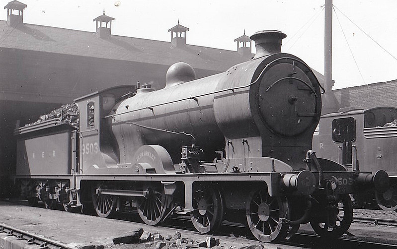 Class D34 - 9503 GLEN ARKLET - Reid NBR Glen Class K 4-4-0 - built 05/20 by Cowlairs Works as NBR No.503 - 1924 to LNER No.9503, 1946 to LNER No.2487, 12/48 to BR No.62487 - 09/59 withdrawn from 64A St Margarets.