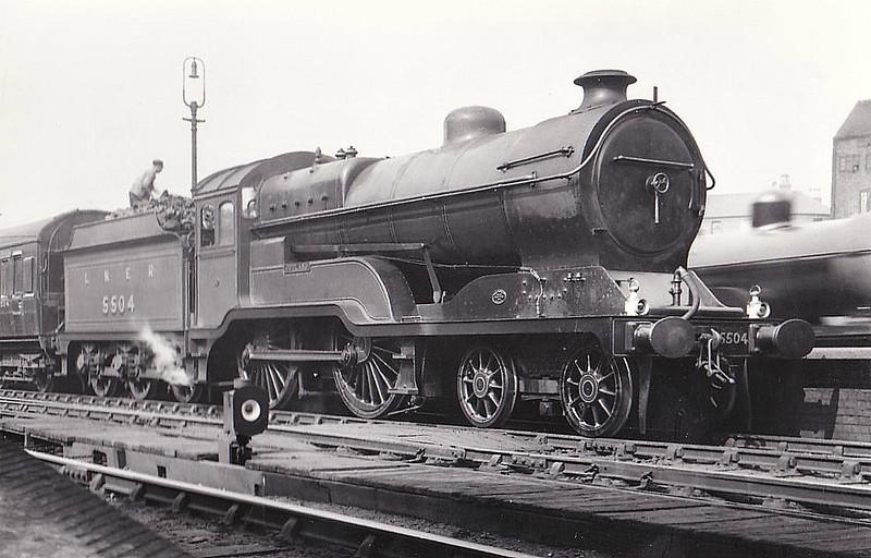 Class D11 - 5504 JUTLAND - Robinson GCR Class 11F LNER Class D11 Improved Director 4-4-0 - built 11/22 by Gorton Works as GCR No.504 - 12/24 to LNER No.5504, 10/46 to LNER No.2668, 05/48 to BR No.62668 - 11/60 withdrawn from 41A Sheffield Darnall - seen here at Nottingham Victoria, 1929.