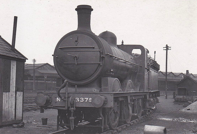 Class J3 - 3375 - Ivatt GNR Class J4 0-6-0 - built 09/1899 by Doncaster Works as GNR No.375 - 04/27 to LNER No.3375, 07/46 to LNER No.4137, 12/48 to BR No.64137 - 02/16 rebuilt as Class J3 - 02/51 withdrawn from 40F Boston - seen here at Stafford in April 1933.