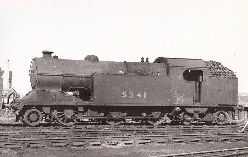 Class L3 - 5341 - Robinson GCR Class 1B 2-6-4T - built 06/16 by Gorton Works as GCR No.341 - 03/24 to LNER No.5341, 03/46 to LNER No.9060, -5/48 to BR No.69060 - 06/54 withdrawn from 36c Frodingham - seen here at Neasden in 1948.