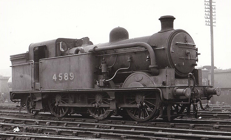 Class N 1 - 4589 -  Ivatt GNR 0-6-2T - built 03/12 by Doncaster Works as GNR No.1589 - 05/25 to LNER No.4589, 09/46 to LNER No.9469, 09/51 to BR No.69469 - 04/57 withdrawn from 56C Leeds Copley Hill.