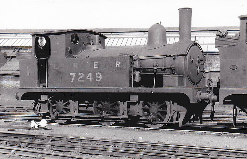 Class J65 - 7249 - Holden GER Class E22 0-6-0T - built 1893 by Stratford Works as GER No.249 - 1923 to LNER No.7249 - withdrawn before 1948 - seen here at Stratford.