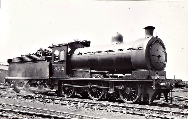 Class J26 -  434 - Worsdell NER 0-6-0 - built 06/04 by Darlington Works - 06/46 to LNER No.5733, 12/48 to BR No.65733 - 01/59 withdrawn from 51F West Auckland.
