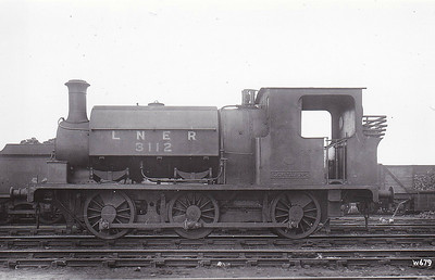 Class J84 - 3112 - E&WYUR LNER Class J84 0-6-0ST - built 1895 by Manning Wardle & Co., Works No.1307, as E&WYUR No.1 - 1923 to LNER No.3112 - 1923 withdrawn - note that the loco still carries its old number plate.