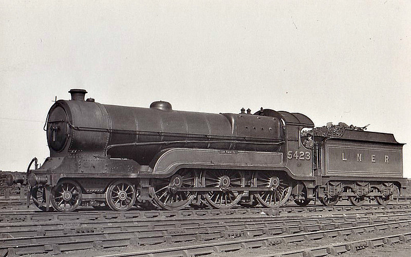Class B 7 - 5483 - Robinson GCR/LNER Class 9Q 4-6-0 - built 02/24 by Gorton Works - 10/46 to LNER No.1396, 02/49 to BR No.61396, 04/49 to BR No.61713 - 09/49 withdrawn from 39A Gorton.
