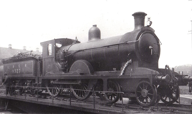 Class D26 - 9327 - Holmes NBR Class K 4-4-0 - built 10/03 by Cowlairs Works as NBR No.327 - 1924 to LNER No.9327 - 11/25 withdrawn from Bathgate MPD.