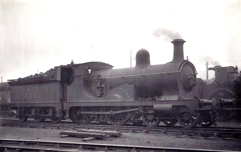 Class D45 - 6840 - Cowan GNSR Class M 4-4-0 - built 1878 by Neilson & Co. as GNSR No.40 - 1923 to LNER No.6840 - 06/32 withdrawn from Kittybrewster MPD.