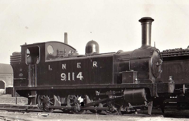 Class J88 - 9114 - Reid NBR Class F 0-6-0T - built 04/12 by Cowlairs Works as NBR No.114 - 05/25 to LNER No.9114, 01/46 to LNER No.8339, 10/51 to BR No.68339 - 10/58 withdrawn from 64B Haymarket.