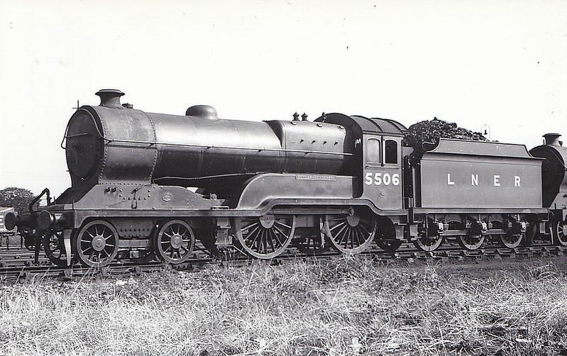 Class D11 - 5506 BUTLER-HENDERSON - Robinson GCR Class 11F LNER Class D11 Improved Director 4-4-0 - built 12/19 by Gorton Works as GCR No.506 - 06/24 to LNER No.5506, 10/46 to LNER No.2660, 10/49 to BR No.62660 - 11/60 withdrawn from 41A Sheffield Darnall - seen here at Neasden, 08/37 - preserved at GCR.