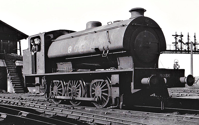 Class J94 - 8056 - Riddles WD Austerity Class 0-6-0ST - built 12/45 by Bagnall & Co. as WD No.75268 - 10/46 to LNER No.8056, 01/50 to BR No.68056 - 10/62 withdrawn from 51C West Hartlepool, where seen here 06/49.