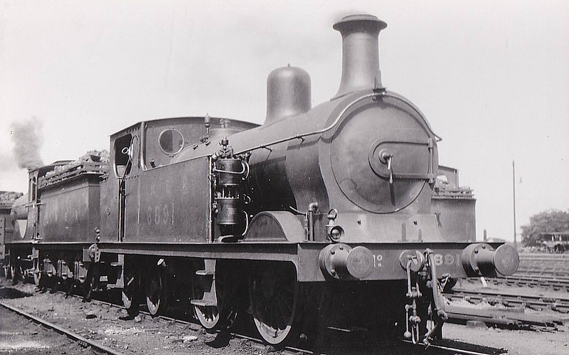 Class G10 - 6891 - Johnson GNSR Class R 0-4-4T - built 12/1893 by Neilson & Co. as GNSR No.91 - 11/24 to LNER No.6891 - 10/37 withdrawn from Kittybrewster MPD.