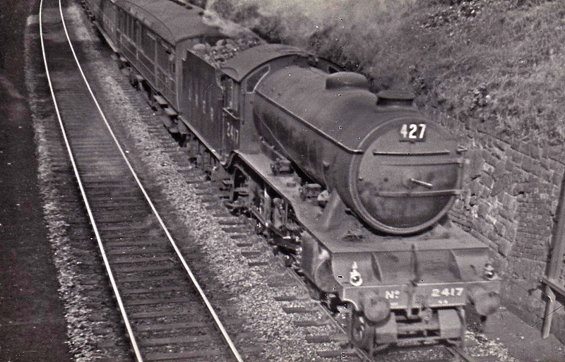 Class K3 - 2417 - Gresley GNR 2-6-0 - built 05/36 by Armstrong Whitworth & Co. - 08/46 to LNER No.1959, 01/49 to BR No.61959 - 11/61 withdrawn from 41E Staveley GC - seen here at Cressington.