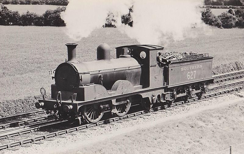 Class A12 - 627 - Adams LSWR Class A12 0-4-2 - built 01/1893 by Neilson & Co. - 12/48 withdrawn.