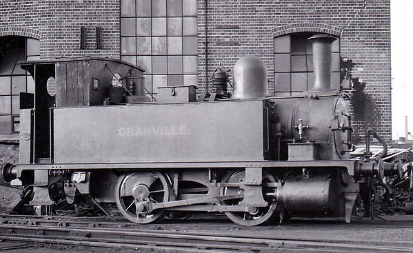 Class B4 - 102 GRANVILLE - Adams LSWR 0-4-0T - built 12/1893 by Nine Elms Works - 12/50 to BR No. 30102 - 09/63 withdrawn from 71A Eastleigh - seen here at Southampton Docks in 1936