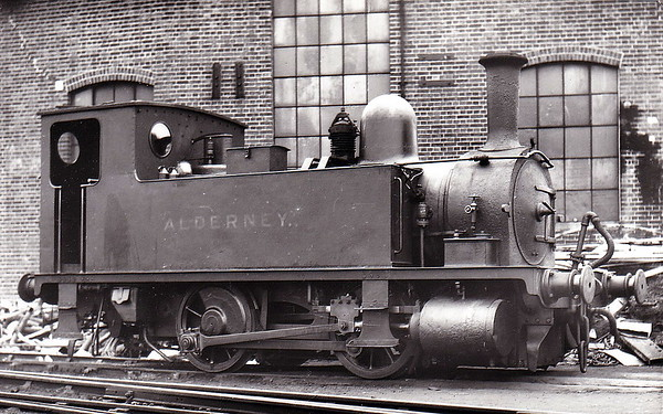 Class B4 - 85 ALDERNEY - Adams LSWR 0-4-0T - built 10/1891 by Nine Elms Works - 1948 to BR No. 30085 (not applied) - 02/49 withdrawn from 71I Southampton Docks, where seen in 1937.