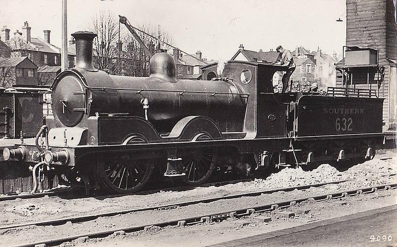 Class A12 - 632 - Adams LSWR Class A12 0-4-2 - built 01/1893 by Neilson & Co. - 08/37 withdrawn.