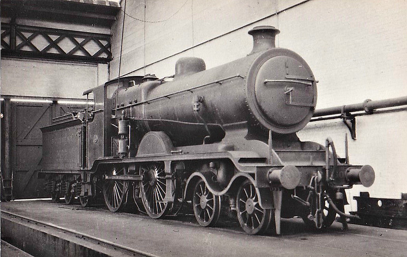 Class B4X - 2060 - Billinton LBSCR Class B4 4-4-0 - built 08/01 by Sharp Stewart as LBSCR No.60 KIMBERLEY - 09/22 rebuilt to Class B4X - 1931 to SR No.2060, BR No.32060 not applied - 12/51 withdrawn from 75A Brighton - seen here in Eastleigh Paint Shop.