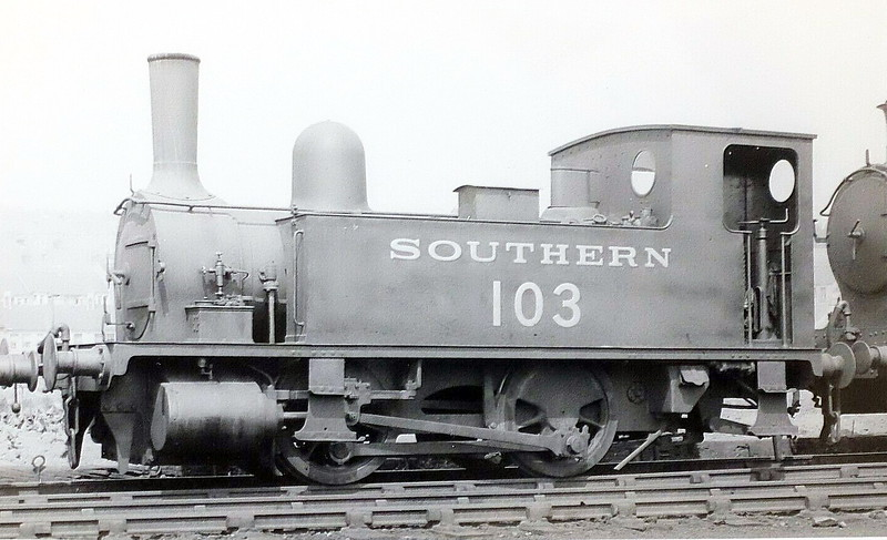 Class B4 - 103 - Adams LSWR 0-4-0T - built 12/1893 by Nine Elms Works - 1948 to BR No.30103 (not applied) - 04/49 withdrawn from 72D Plymouth Friary.