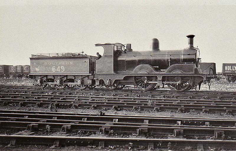 Class A12 - 649 - Adams LSWR Class A12 0-4-2 - built 11/1894 by Nine Elms Works. - 03/46 withdrawn.