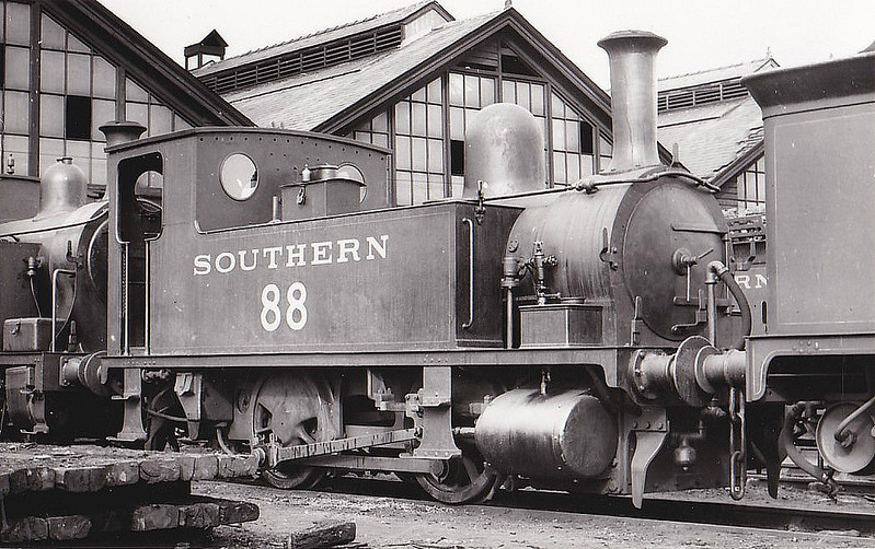 Class B4 - 88 - Adams LSWR 0-4-0T - built 10/1892 by Nine Elms Works - 1952 to BR No.30088 - 07/59 withdrawn from 71A Eastleigh.