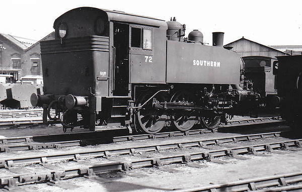 Class USA - USATC 0-6-0T - built 1943 by Vulcan Ironworks as WD No.1973 - 04/47 in service as SR No.72, 07/48 to BR No.30072 - 07/67 withdrawn from 60C Guildford.