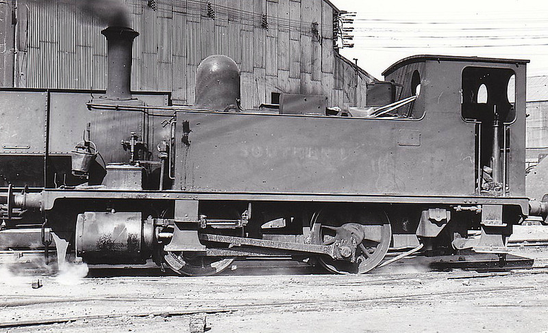 Class B4 - 98 CHERBOURG - Adams LSWR Class B4 0-4-0T - built 12/1893 by Nine Elms Works as LSWR No.98 - BR No.30098 not applied - 02/49 sold to DR Zeiler, Swansea, and then to Stewart & Lloyds, Bilston, where seen 05/49.