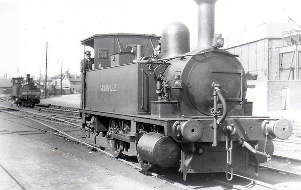 Class B4 - 102 GRANVILLE - Adams LSWR 0-4-0T - built 12/1893 by Nine Elms Works - 12/50 to BR No. 30102 - 09/63 withdrawn from 71A Eastleigh - seen here at Southampton Docks.