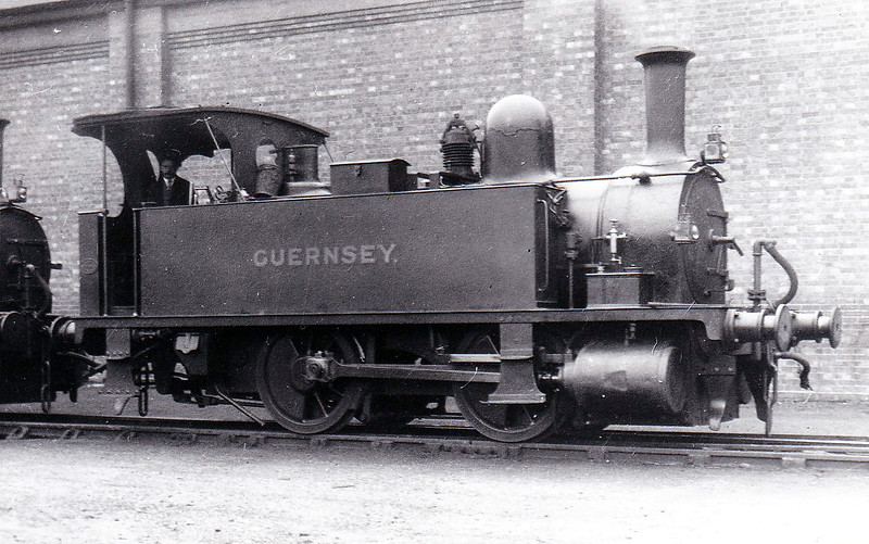 Class B4 - 176 GUERNSEY - Adams LSWR 0-4-0T - built 10/1893 by Nine Elms Works - 1948 to BR No. 30176 (not applied) - 06/48 withdrawn from Southampton Docks, where seen in about 1924.