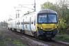 Class 365 525 approaches Downham Bypass AHB on 1T04 0744 Kings Cross - Kings Lynn, 11/11/15.
