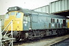 25051 is stabled on Depot at Peterborough, 10/84. This loco was withdrawn in September 1985.