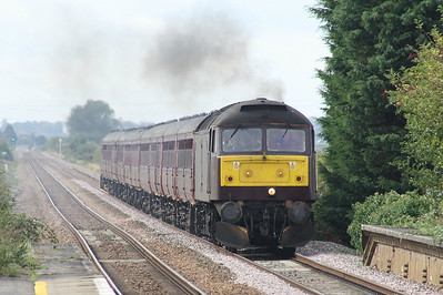 47760 approaches Shippea Hill on Steam Dreams 1Z66 Kings Cross - Norwich, 33207 on the rear, 23/09/18. This train had originally been booked for 61306 MAYFLOWER, replaced by 60009 UNION OF SOUTH AFRICA, itself replaced at the last moment by 33207.