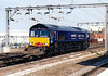 66405, in special Malcolm Group livery, heads south through Rugby with a freightliner for DIRFT, 11/05/06. This loco is now GBRf 66 737.