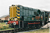 08704, seen here at Boston Rail 150 on 13/09/98 as D3871, preserved at the NVR after withdrawal and used on steel trains into Boston Docks in 1998.